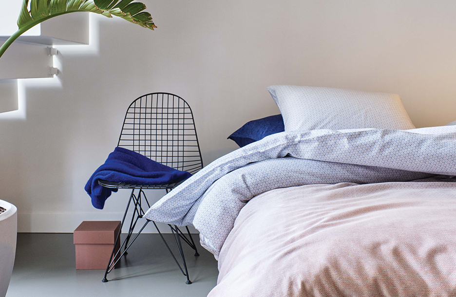 Highrise multi dekbedovertrek op Auronde bed