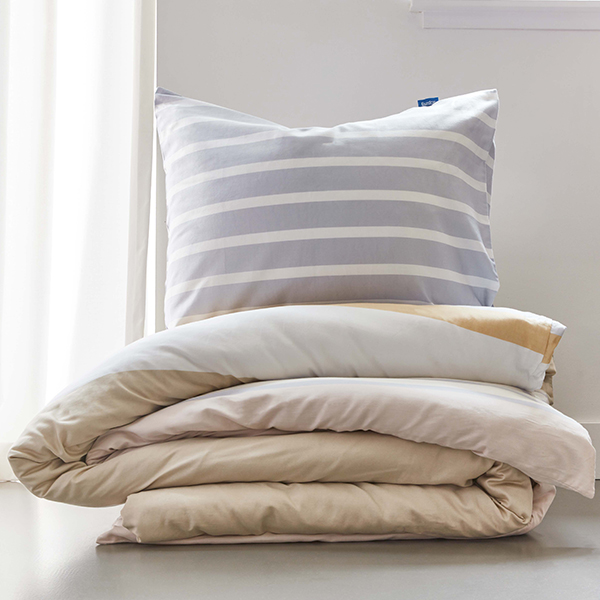 Infinity sand duvet cover with pillow case