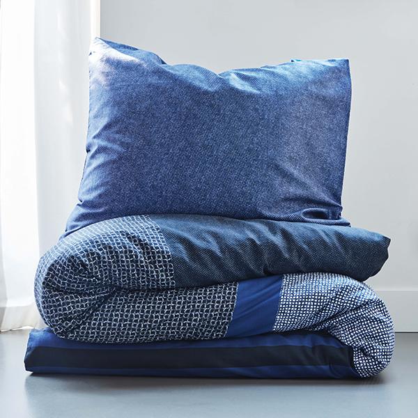 Bettwäsche Soho blau mit Kopfkissen