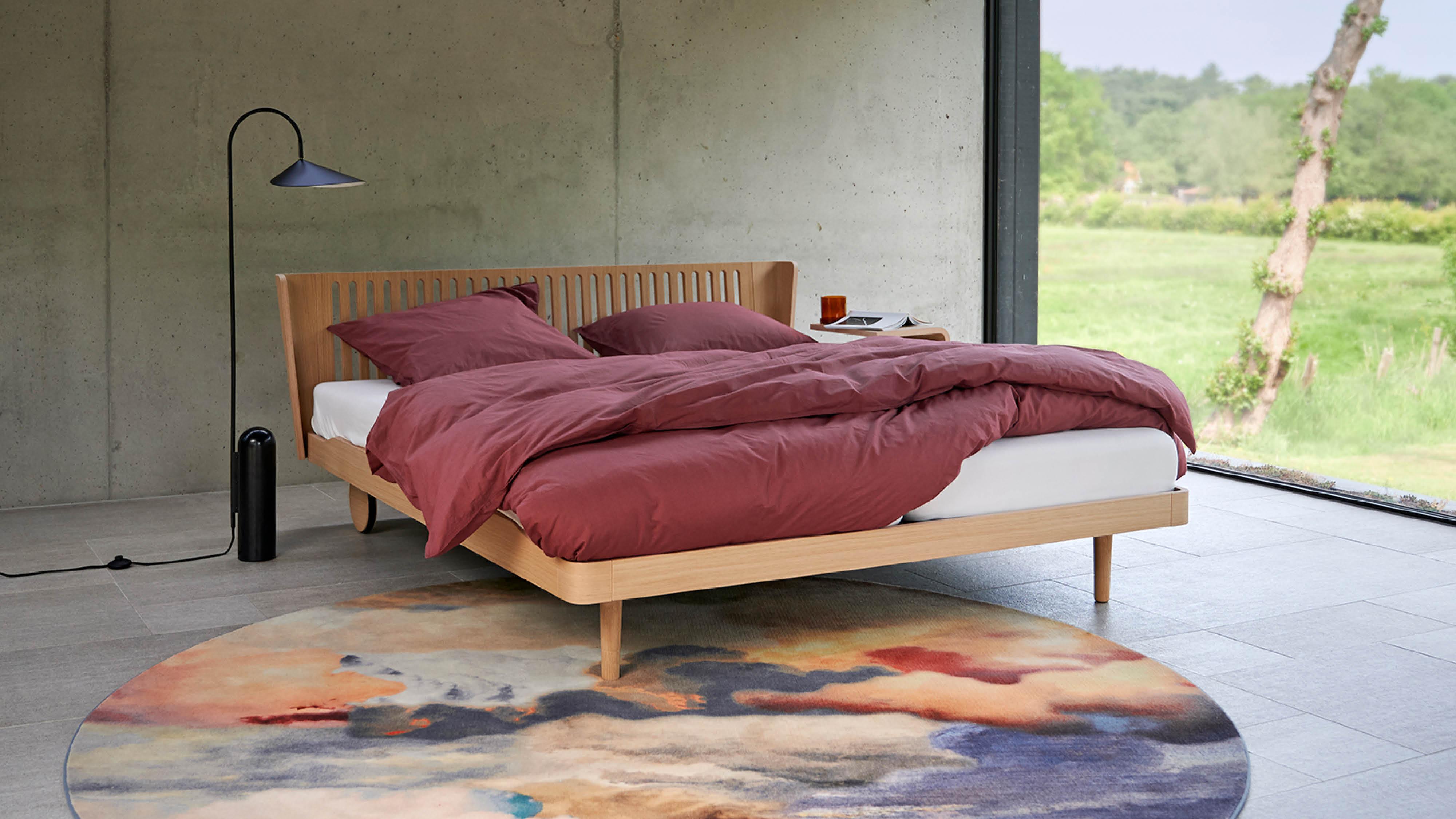 Houten Noa bed van Auping
