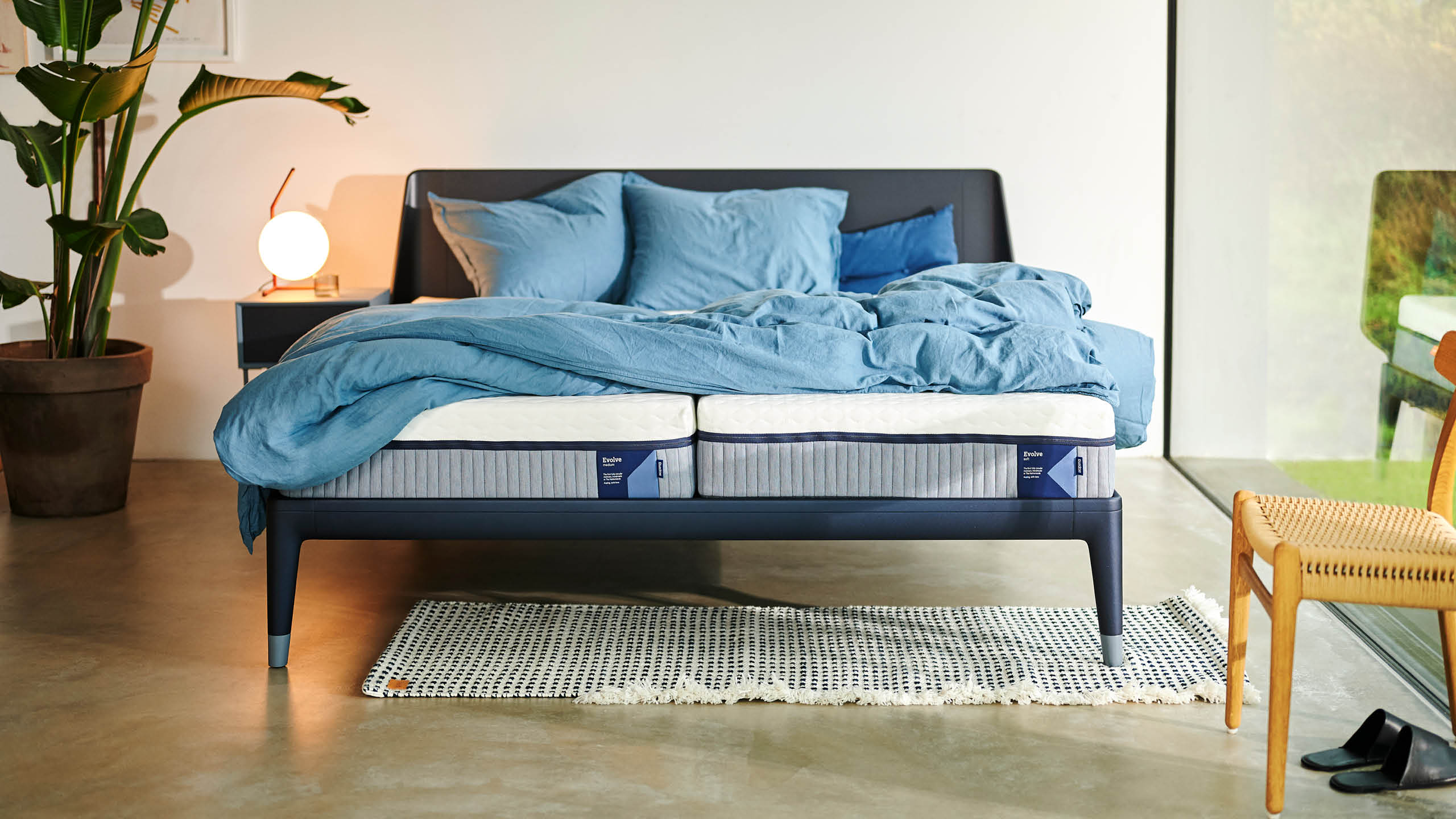 Een Auping Essential-bed met een Evolve-matras