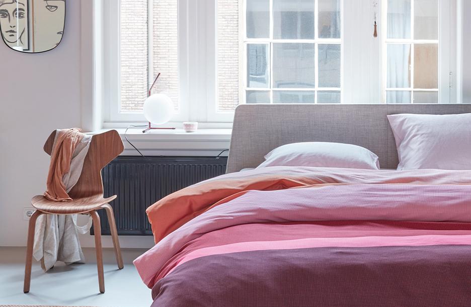 Sydney dekbedovertrek op Essential bed